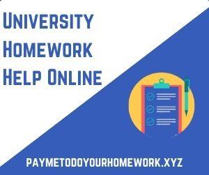 University Homework Help Online